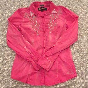 Hot Pink Roar Rodeo Shirt